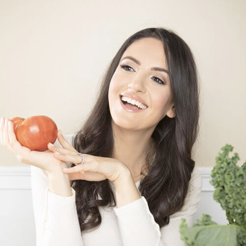 Anna Khesin with fruit